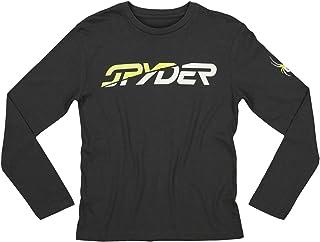 Spyder 青年男孩 (8-20) 运动长袖图形棉 T 恤
