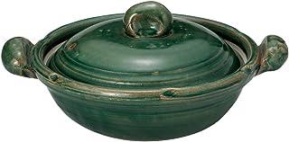 山下工艺 土锅 陶器 31×φ25×15cm(身8.8cm) 织部 手造 8号锅 15031120