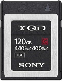 Sony 索尼 Professional 32GB XQD 内存卡 G 系列(读取速度高达440MB/s )带文件救援软件QD-G120F  120GB
