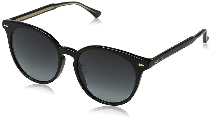 8fc8b3d18ec Gucci Women s Opulent Luxury GG0195SK GG 0195 SK 001 Black Round Sunglasses  55mm
