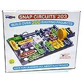 Snap Circuits 203 电子产品探索套件 - 200 多种 STEM 项目 - 4 色项目手册 - 42 个快照模块 - 无限乐趣
