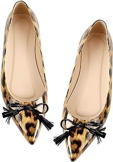 Richealnana 女式尖头一脚蹬芭蕾平底鞋