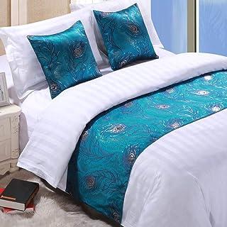 Mengersi Rippling Bed Runner 围巾护套床装饰围巾适用于卧室*店婚礼房间 B King