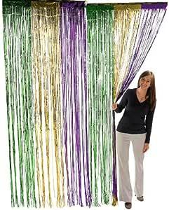 Fun Express 金属狂欢节流苏窗帘(1 件装) 多种颜色 2 件装 3/152-C2