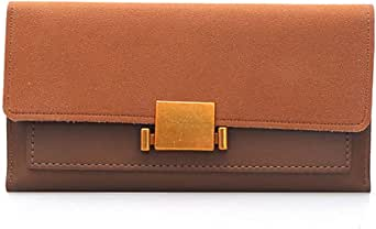 钱包:女士新款长款钱包 ~ 人造皮革手拿包