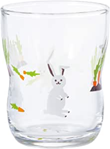 ADERIA 阿德利亚 兔子 舒适的儿童玻璃杯 S Kaku-bou 日本制造 6086