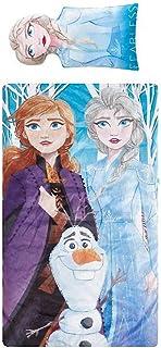 Elsa and Anna 女孩睡袋和枕头套装