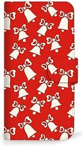 MITAS 智能手机保护壳翻盖型圣诞节红色 B 3_Galaxy S5 (SC-04F) Samsung