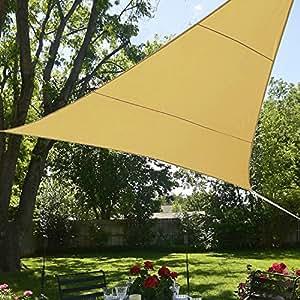 Bluedot Trading 方形防水遮阳帆 Mesh 12x12x12 Beige Triangle Mesh Shade Sail 12x12x12