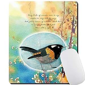 4 毫米厚游戏鼠标垫 - 个性鼠标垫 带设计 - 防滑橡胶鼠标垫 X-Dolphins Oriole
