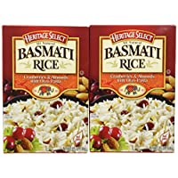 Heritage Select Basmati Rice, Cranberries & Almonds with Orzo Pasta, 6.5 Ounce (Pack of 6)
