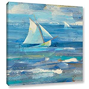 "ArtWall ""Albena Hristova's Ocean Sail"" Gallery Wrapped Canvas, 14"" x 14"""