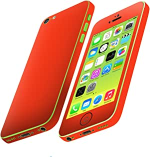 Cruzerlite Fluorescent Red Skin for the iPhone 5C - Carrying Case - Retail Packaging - Fluorescent Red