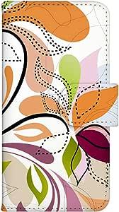 智能手机壳 手册式 对应全部机型 印刷手册 wn-085top 套 手册 蔓藤花纹 植物 草 螺旋 葡萄 UV印刷 壳WN-PR014354-S AQUOS PHONE es WX04SH B款