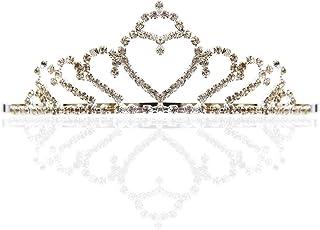 婚礼头饰水钻新娘头饰盛会公主心形皇冠
