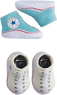 Converse 匡威 Baby Booties 套装,男女宝宝适用(0-6 个月)  Bleached Aqua (U5l) 0-6 Months