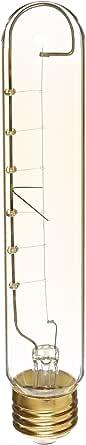 Heirlume HL-3760WPack12 Vintage Edison Bulb 60-watt with Medium Base and Tubular Shape, 4-Inch x 7.3-Inch, 12-Pack