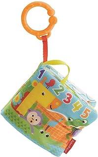 Fisher-Price 費雪 FGJ40 小玩具書 柔軟嬰兒書 包括 1 可拆卸玩具 幼兒玩具 適合 0 個月以上