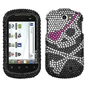 MyBat Diamante Protector Cover for LG C729 (Doubleplay) - Retail Packaging - Skull