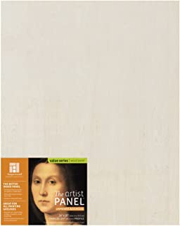 "Ampersand Art Supply Unprimed 木艺术家板 - 手工轮廓 1.5 Inch Depth 16""x20"" UPWP151620"