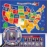 磁性美国地图拼图 & 总统拼图 儿童用
