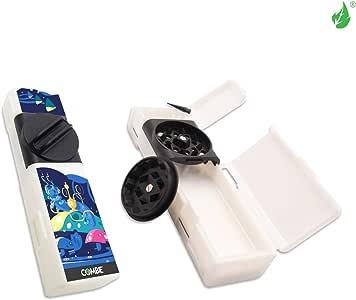 New COLECTION Combie Grind & Roll - 烟草研磨机、滚纸、卷纸、贴图和收纳工具,集革命性工具于一体,由纤维强化塑料制成 Kit-White