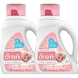 Dreft & Bounce 洗衣包 Original Baby Fresh Scent Dreft Stage 1 Detergent, 2 Count 50 Ounces (32 Loads), 2 Count 64