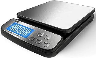 110 磅 50KG 数字邮政秤,MOCCO 重型不锈钢多功能运输秤 0.1 盎司/1 克精度 带大底座计数功能 适用于 UPS USPS 地板长凳办公室重量