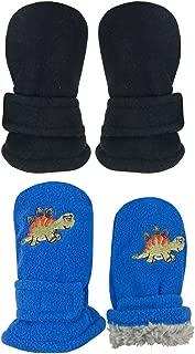 N'Ice Caps 小孩和宝宝易穿的羊绒内衬手套 - 2 双装