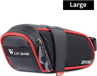 ICOCOPRO 自行车马鞍包 防水 小巧 自行车储物袋 大容量 座椅下包 带反光条纹 适用于Road Mountain BMX 自行车
