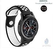 Arsvita Ticwatch E 硅胶软带通风孔,Ticwatch E/Gear S2 Classic/Moto 360 42 毫米/华为手表 2 / Galaxy Watch 42 毫米/Amazfit Bip/VivoActive 3