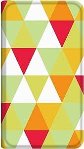 智能手机壳 手册式 对应全部机型 薄型印刷手册 cw-120top 套 手册 几何学图案 超薄 轻量 UV印刷 壳WN-PR135854-ML ELUGA V P-06D B款