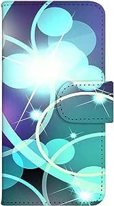 智能手机壳 手册式 对应全部机型 印刷手册 wn-092top 套 手册 霓虹效果 光 浅色 浅色 UV印刷 壳WN-PR054624-ML AQUOS SH-M02 图案E