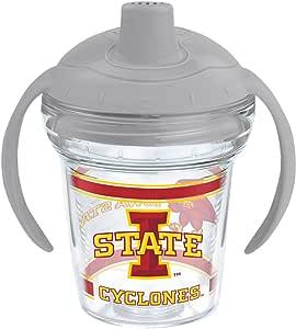 Tervis NCAA 爱荷华州 175.26 克。 包裹吸管杯 透明 6盎司 IOWA-ST-UNIV-SIP