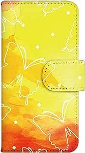 智能手机壳 手册式 对应全部机型 印刷手册 cw-078top 套 手册 蝴蝶 UV印刷 壳WN-PR074599-S ARROWS ES IS12F 图案G