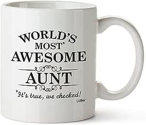 家庭礼物 生日 圣诞礼物 爸爸礼物 咖啡杯 茶杯 白色 Aunt Aunt 43397-18054