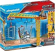 Playmobil 70441 城市动作建筑起重机 带遥控器