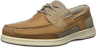 Dockers 男士 Beacon 皮革休闲经典船鞋 NeverWet 棕褐色/灰褐色 Taupe Tan 8.5 M US