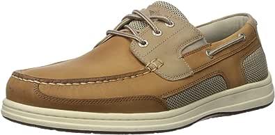 Dockers 男士 Beacon 皮革休闲经典船鞋 NeverWet 棕褐色/灰褐色 Taupe Tan 7 M US