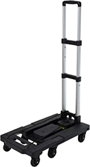 Tsum 手推车 手推车007 承重150kg 便携带一体型 黑色 VE-6971