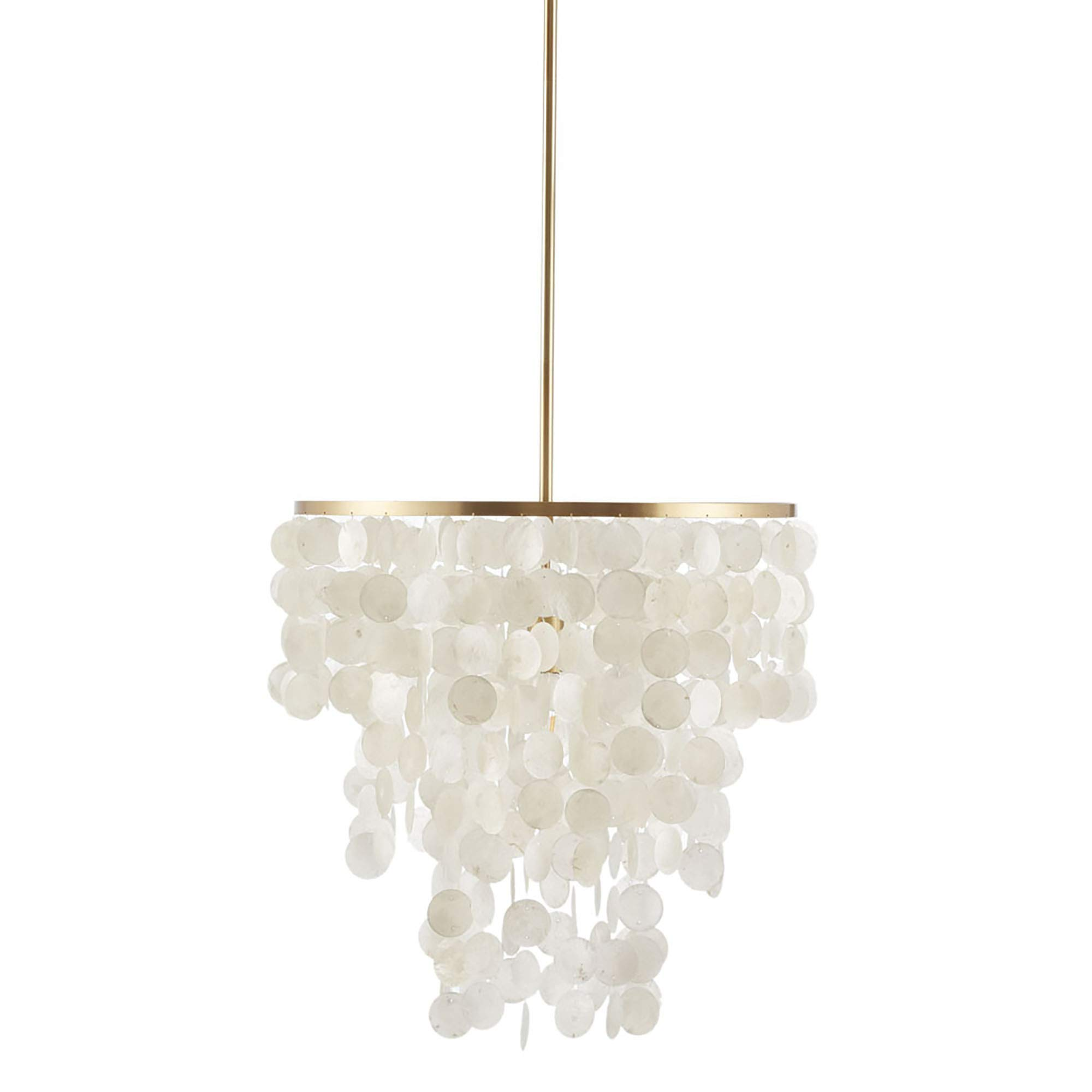 麦迪逊公园签名 MPS150-0093 Isla 现代经典吊灯-金属,白色外壳灯罩吊灯,天花板餐厅照明灯具悬挂