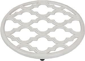 Home Basics 格子系列铸铁锅支架 白色 TR45362