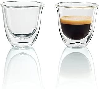 DeLonghi 德龍雙層保溫咖啡玻璃杯,兩只裝