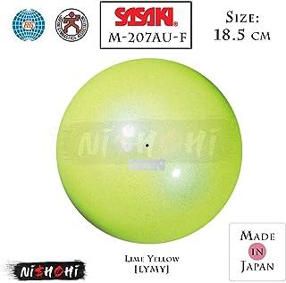 SASAKI佐崎 新体操 手具 球 国际体操联盟认证品 日本体操协会检验品 极光球 直径18.5cm M-207AU-F 黄橙 :径18.5cm