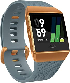 Fitbit 健身 智能手表 iONIC 心率 * 個人角落 配備GPS 耐水性能FB503CPBU-CJK 石板藍色/橙紅色