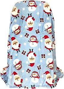 """温暖舒适超柔软节日北极动物抱毯 127 x 152.4 厘米 Santa/Snowman 50x60"""""""
