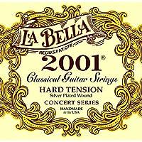 La Bella 2001H Hard Tension/Classic Nylon/Clear Nylon+Silver Plated