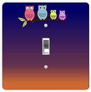 Rikki Knight Night Owls-Single Toggle Light Switch Plate
