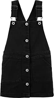 OshKosh 女童弹力黑色牛仔套衫 肩部可调节 背部背心 尺码 12
