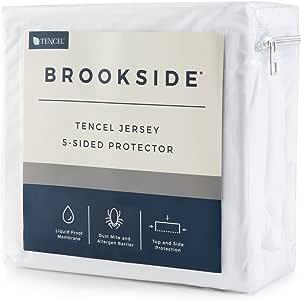 Brookside 五面棉织物床垫保护罩 - 柔软安静 - 低*性 - 防水 - 防** - 防* - 防* - *约束缝 - 10 年保修 全部 BSTJFF5P